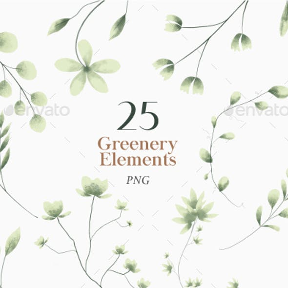 Watercolor Greenery Clipart Transparent Background Png, Green Plant, Leaves Clipart PNG