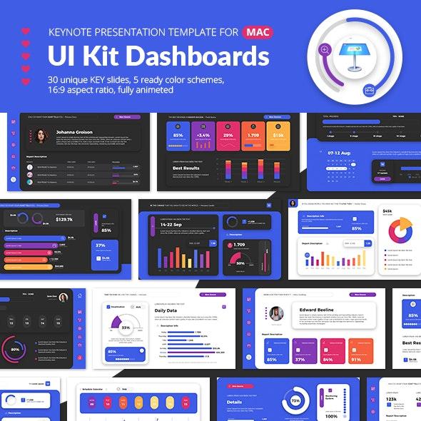 UI Kit Dashboards Keynote Presentation Template - Business Keynote Templates