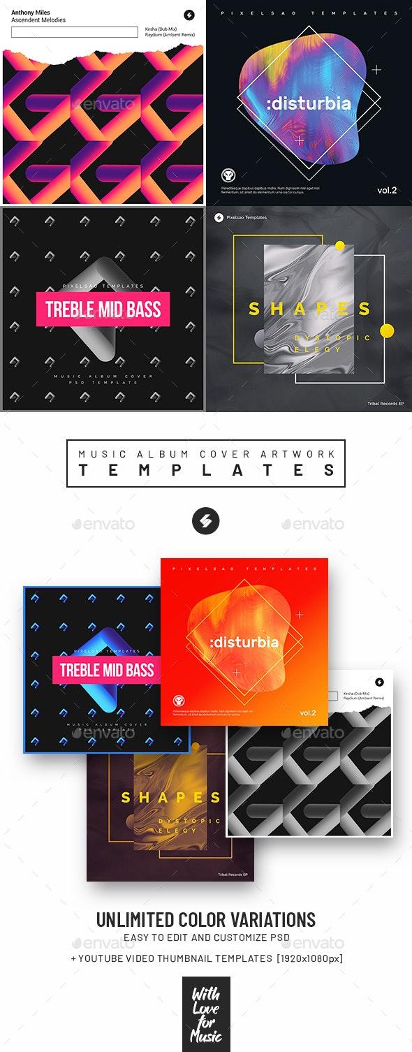 Music Album Cover Artwork Templates Bundle 73 - Miscellaneous Social Media