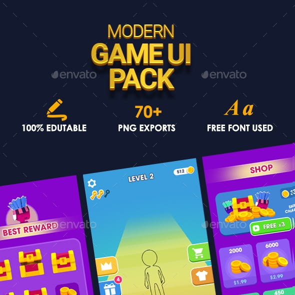 Complete Modern Game UI for Casual and Hyper Casual games