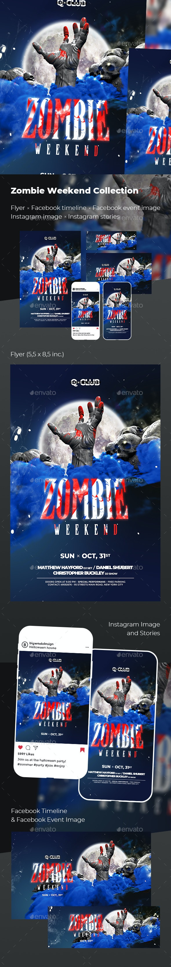 Halloween Zombie Party - Events Flyers
