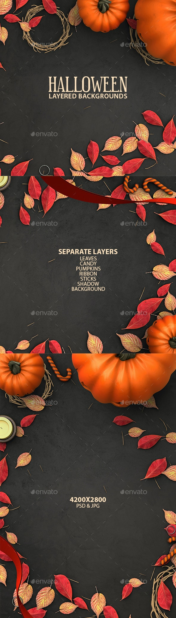 Halloween Layered Backgrounds - Miscellaneous Backgrounds