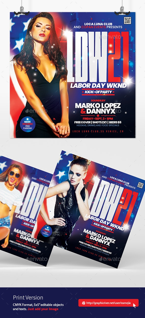 Labor Day Weekend Flyer - Clubs & Parties Events