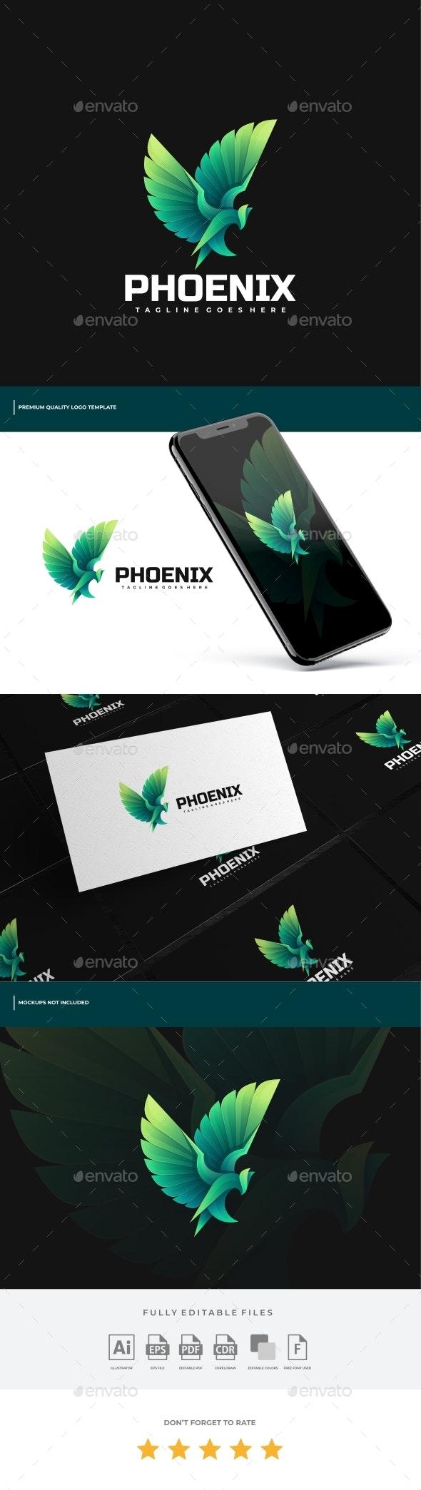 Phoenix Gradient Logo Template - Animals Logo Templates