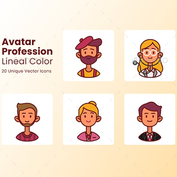 Avatar Icons Profession - Lineal Color