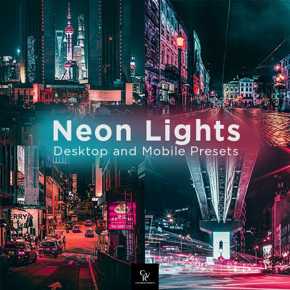 6 Neon Lights Lightroom Presets