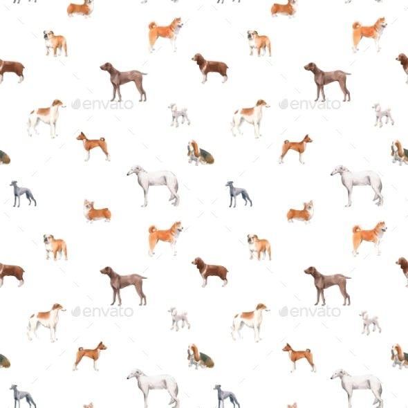 Beautiful Autotraced Vector Seamless Pattern