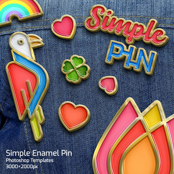 Simple Enamel Pin