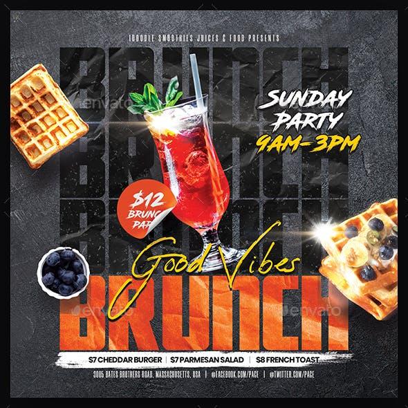 Brunch on Sunday Flyer
