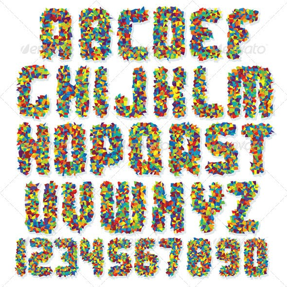 Motley Colorful Vector Font