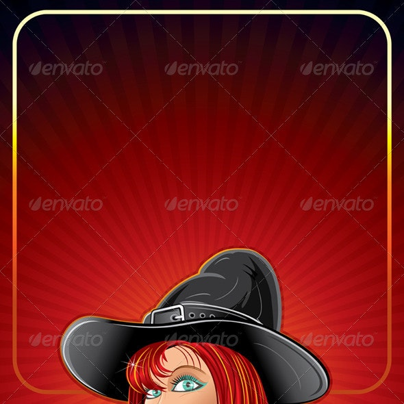Cartoon Witch Background - Halloween Seasons/Holidays