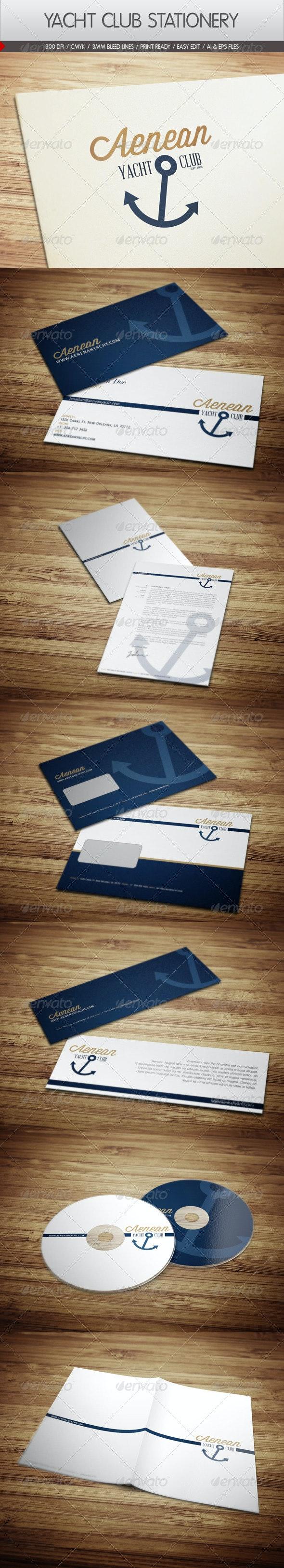 Yacht Club Corporate Identity - Stationery Print Templates