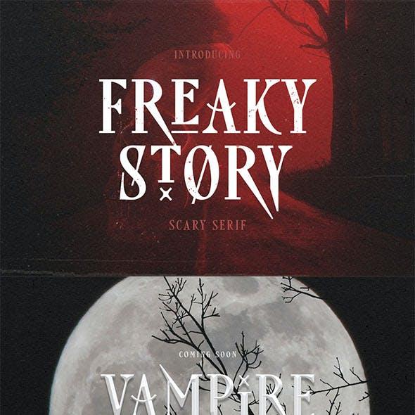 Freaky Story - Creepy Font