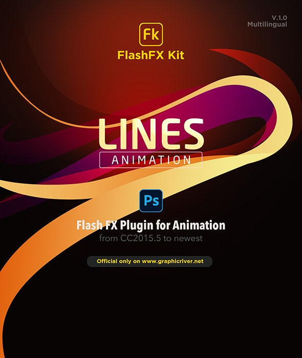FlashFX Kit Lines Animations for Photoshop - 2d Vfx Plugin - Utilities Actions
