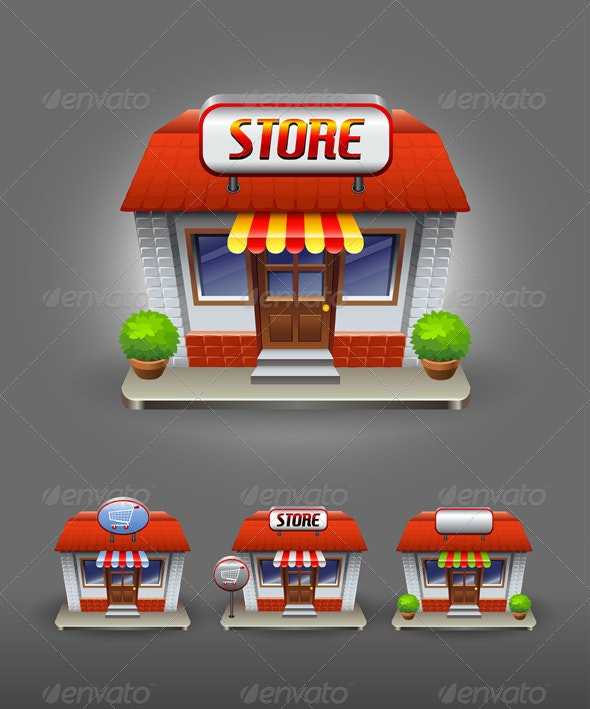 Store icon - Buildings Objects