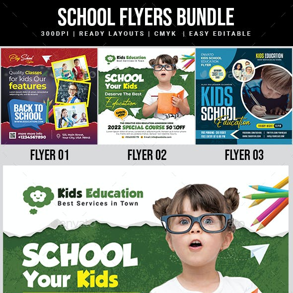 School Flyer Bundle Templates
