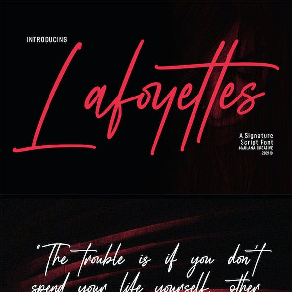 Lafoyettes Signature Script Font