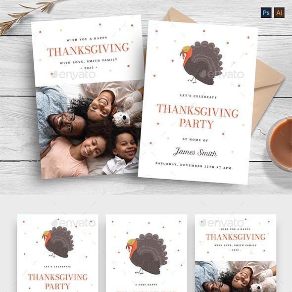 Minimal Thanksgiving Greeting Card