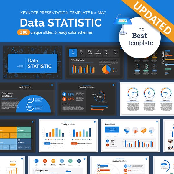 Data Statistic Keynote Presentation Template