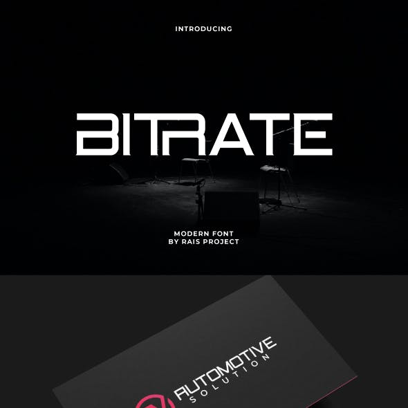 Bitrate Sans Serif Display Font