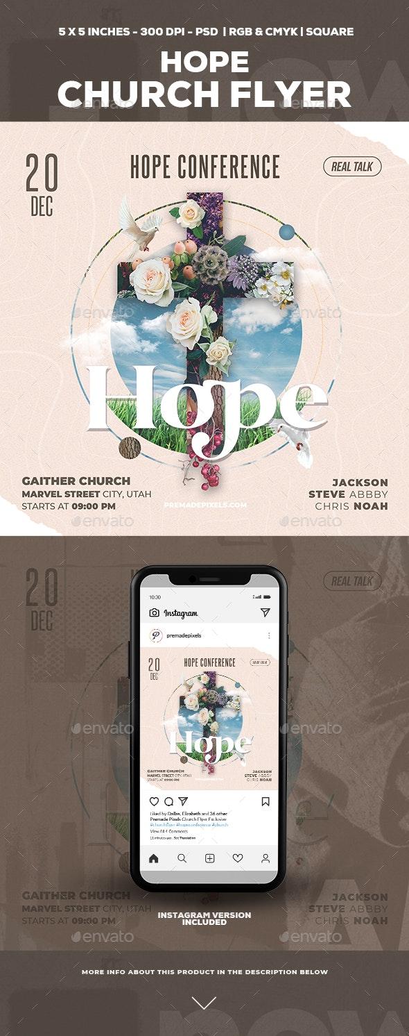 Hope Church Flyer - Church Flyers