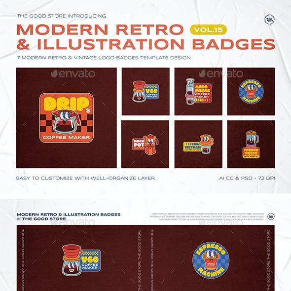 Illustration Logo Badges Vol. 15
