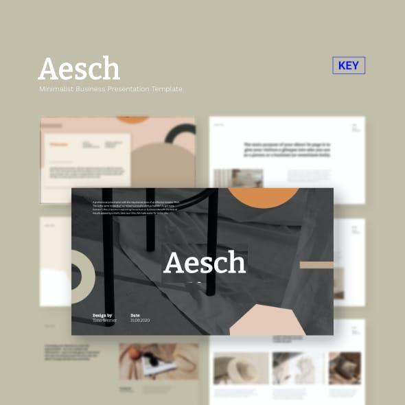 Aesch - Pitch Deck Keynote Template