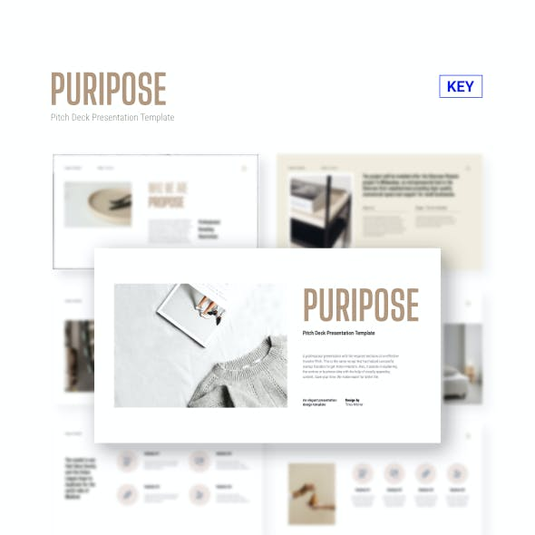 Puripose - Pitch Deck Keynote Template