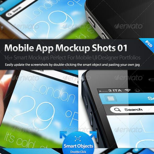 Dribbble Styles Mobile App Mockups