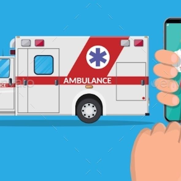 Call Ambulance Car Via Mobile Phone