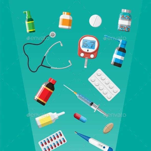 Medicine Collection in Drugstore