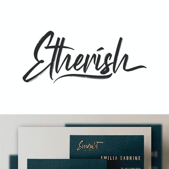 Etherish Textured Brush Font