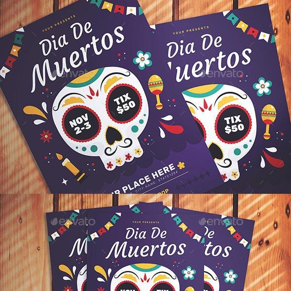 Dia de Muertos Flyer