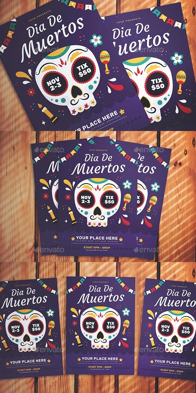 Dia de Muertos Flyer - Flyers Print Templates