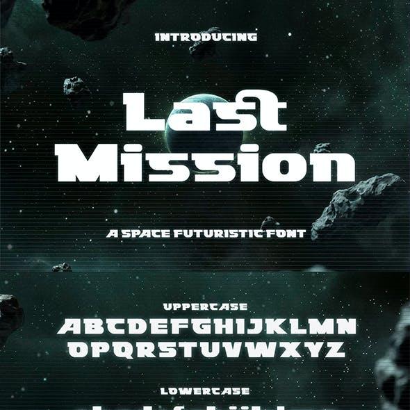 Last Mission – Space Futuristic Font