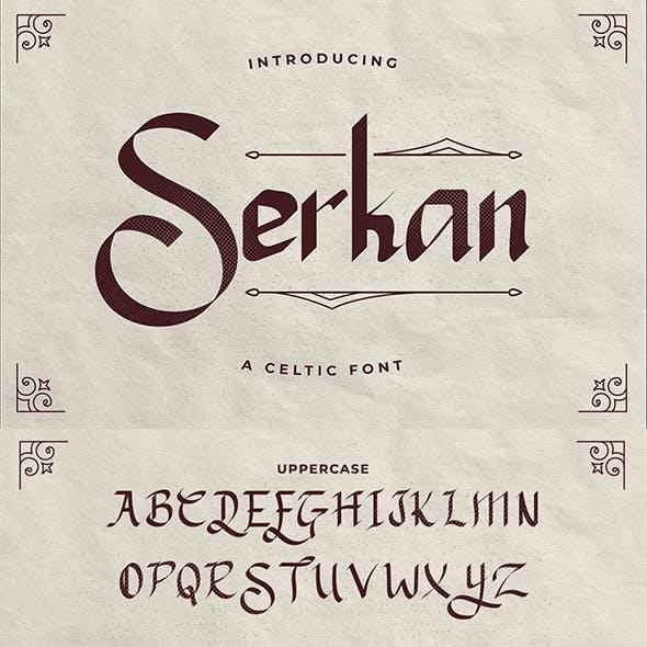 Serkan – A Celtic font