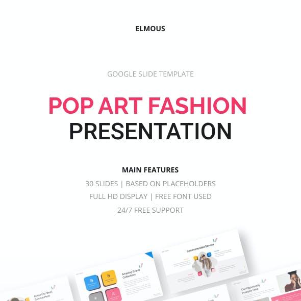 Pop Art Fashion Google Slide Template Presentation