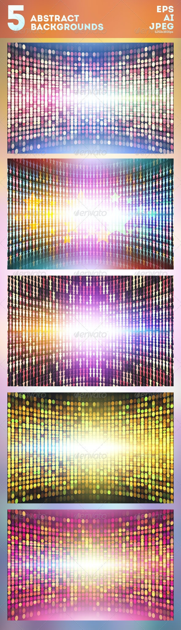 5 Abstract Vector Backgrounds - Backgrounds Decorative
