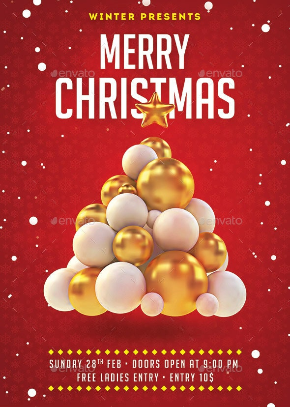 Christmas Holiday Flyer - Holidays Events