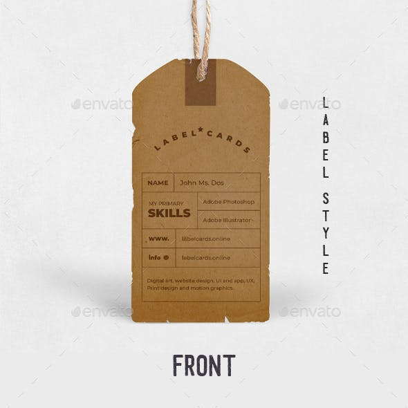 Vintage Label Style Business Card