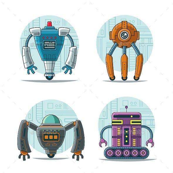4 Robot Illustration Vol 2