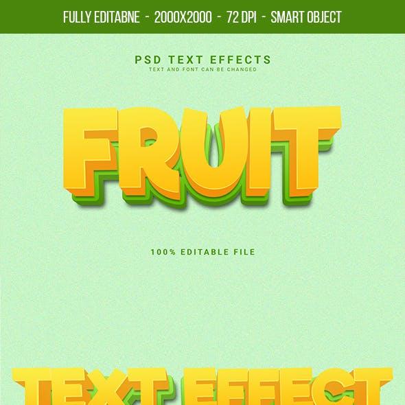 Fruit Text Effect
