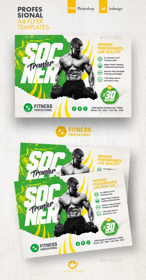 Fitness Trainer Flyer Templates - Sports Events