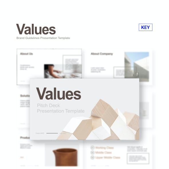 Values - Pitch Deck Keynote Template