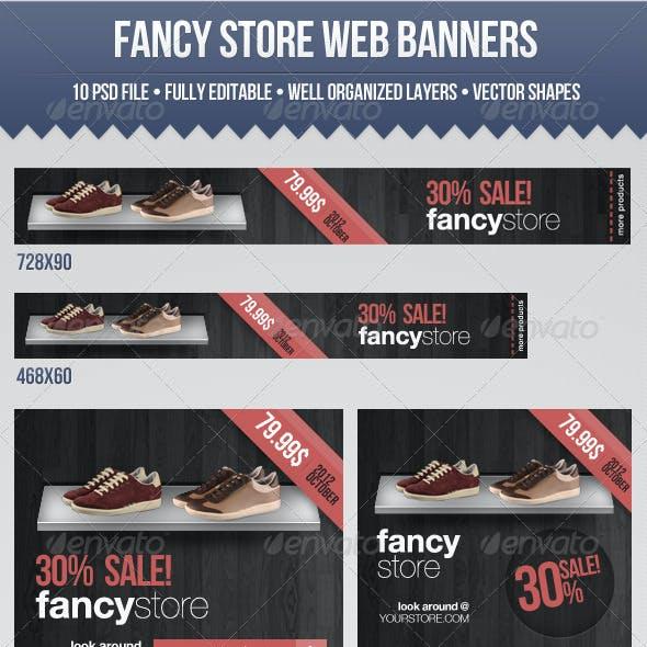 Fancy Store Web Banners