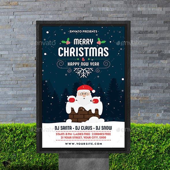 Merry Christmas & Happy New Year Poster
