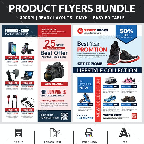 Product Flyers Bundle Templates