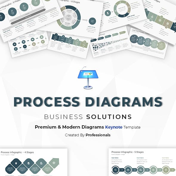 Process Diagrams & Infographics Template for Keynote