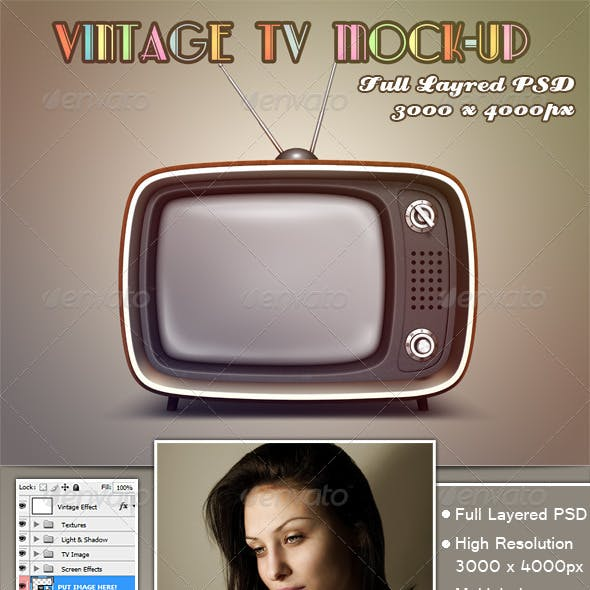 Vintage TV Mock-Up