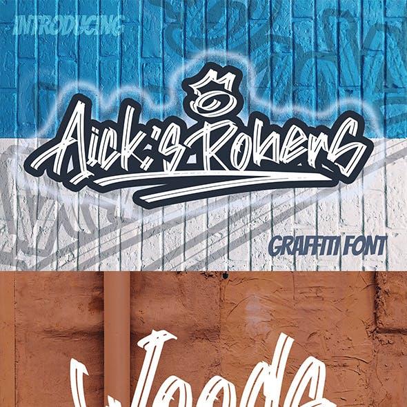 Aick's Robers - Graffiti Font